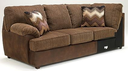 Cladio Hickory Left Arm Facing Sofa