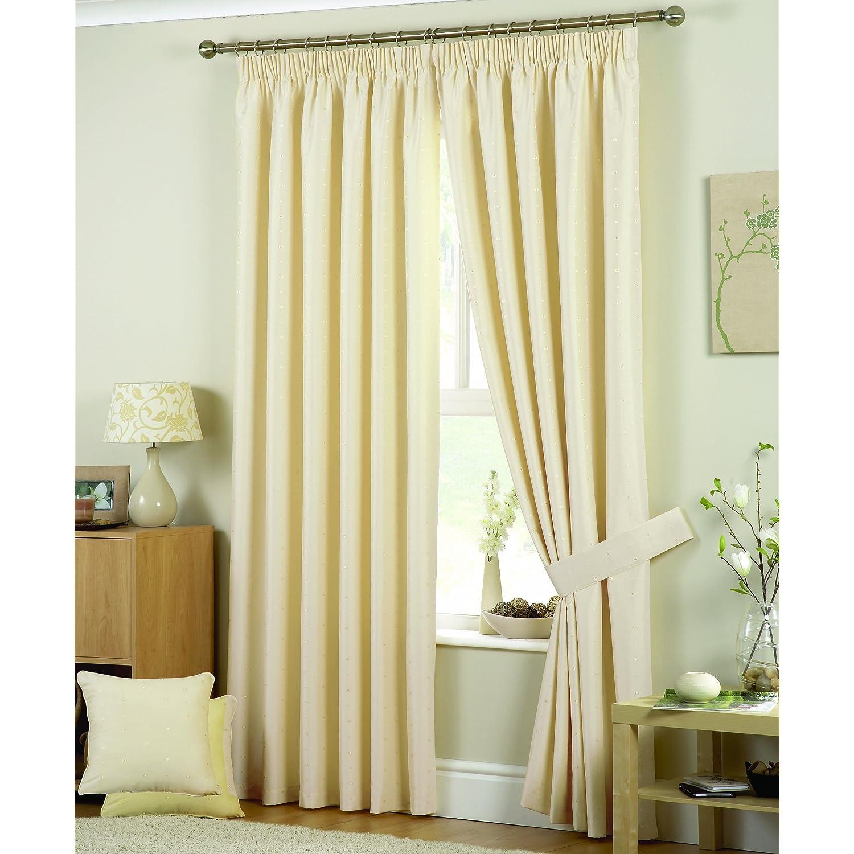 Curtina Hudson Eyelet Lined Natural Bedroom Living Room Curtains 66x90 Ebay