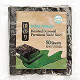 Dried Seaweed 50 Sheets_Korean Roasted Sushi Nori, Healthy Diet Food (Tamaño: 7.5