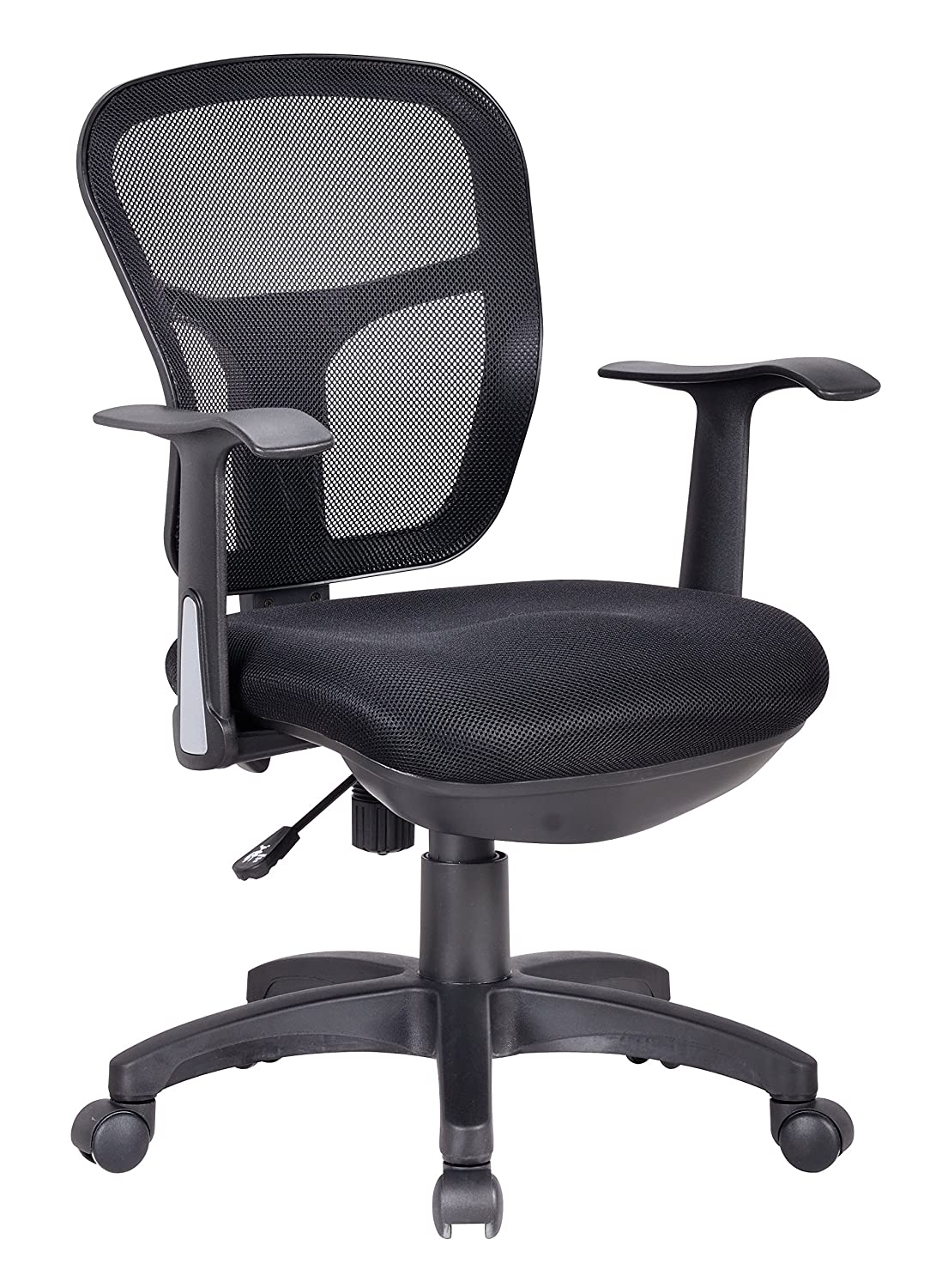 Best office chair 2016 - Office Factor Ergonomic Black Mesh Desk Chair Lumbar Support Extra Cushion On The Seat Fixed Arms Swivel Tilt Mechanism Ergonomic Black Mesh Desk Operative