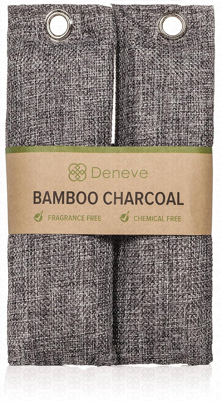 Natural Bamboo Charcoal Bag, Natural Air Purifying Bag, Odor Eliminator - Activated Charcoal Bag, Bamboo Charcoal Bag, Shoe Deodorizer, Air Purifying Bag, Natural Odor Absorber, Bamboo Charcoal Bag