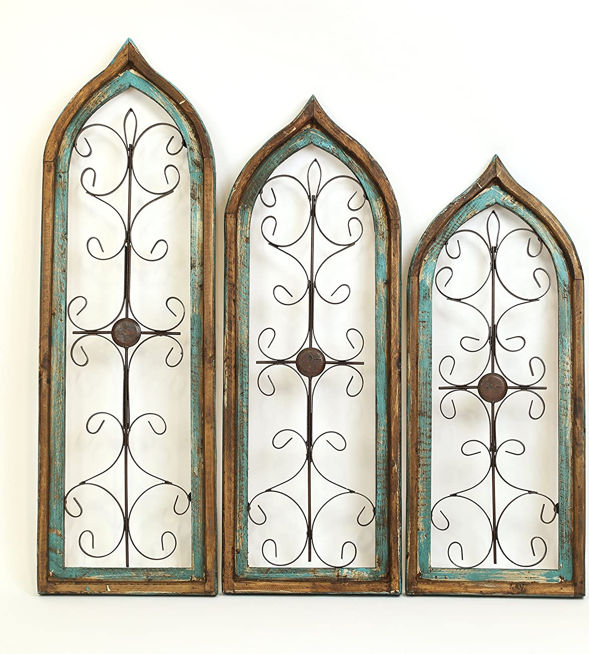 Architectural Gothic Windows Turquoise Set 3 0