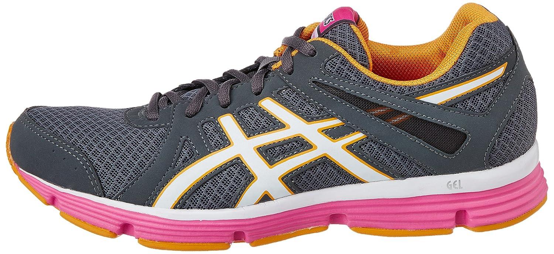 asics women's gel-invasion titanium/white/rasberry running