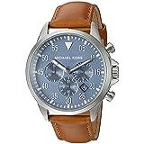 Michael Kors Men's Gage Silver-Tone Watch MK8490 (Color: Silver, Tamaño: One Size)