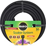 Swan Products Miracle-Gro MGSPA38050CC Premium Soaker Hose 50 ft with Push on Fittings, 3/8