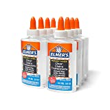 Elmer's Liquid School Glue, Clear, Washable, 5 Ounces, 8 Count - Great for Making Slime (Color: Clear, Tamaño: 8 Count)