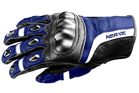 NERVE 31140402_05  KQ12 Gants Moto, Noir-Bleu, Taille XL/11