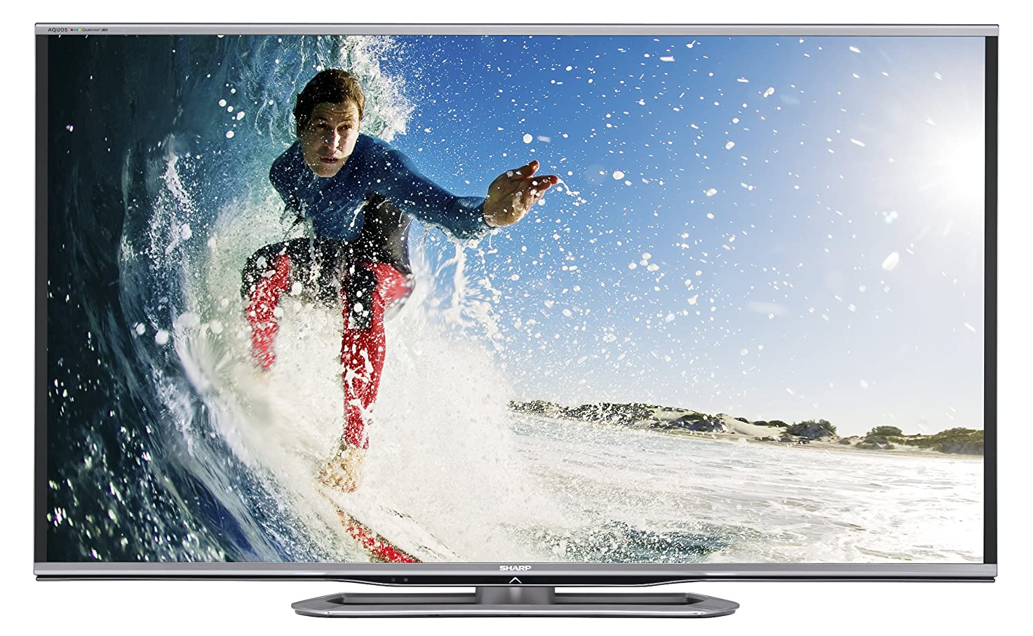 Sharp LC-70LE857 70-Inch Aquos Quattron 1080p 240Hz LED 3D TV (2013 Model)