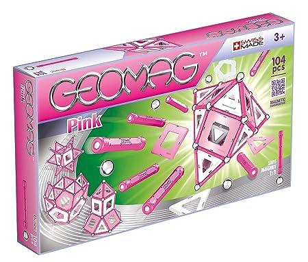 Geomag - GM106 - Jeux de Construction - Pink - 104 - Pièces