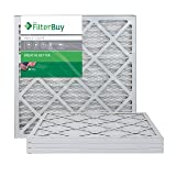 FilterBuy AFB Silver MERV 8 20x20x1 Pleated AC Furnace Air Filter.  Pack of 4 filters. 100% produced in the USA. (Color: MERV 8, Tamaño: 20x20x1)