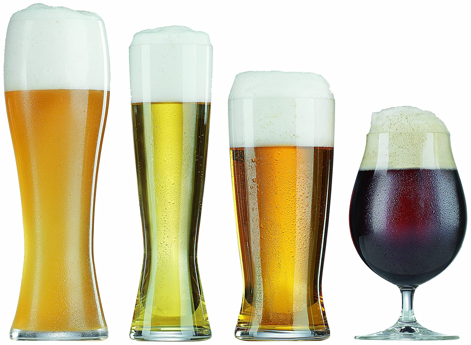 The perfect set of beer glasses for the hip craft beer drinker.