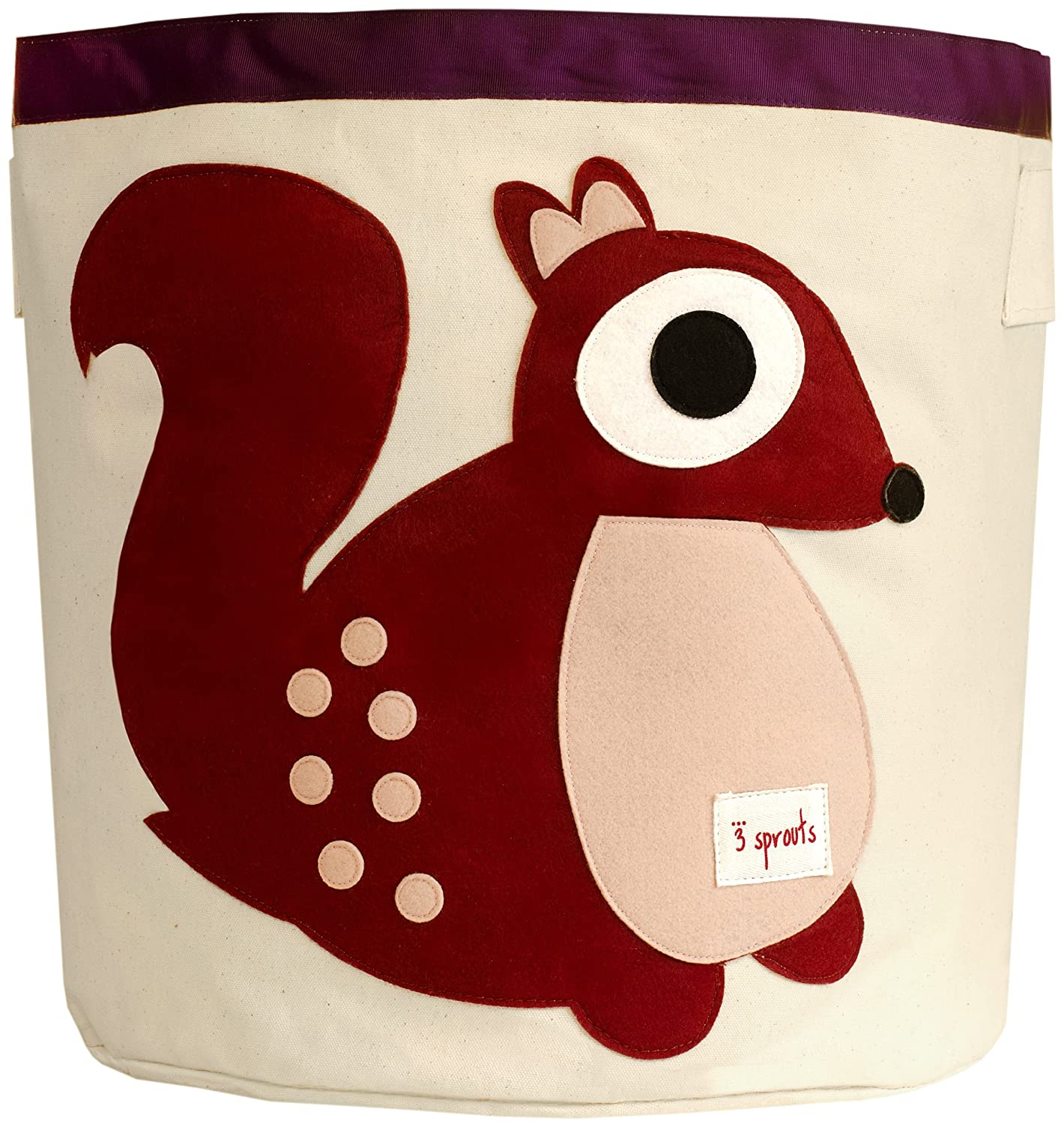 3 Sprouts Storage Bin Berry Squirrel