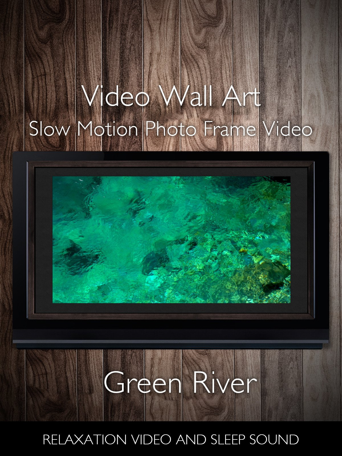 Video Wall Art Slow Motion Green River Photo Frame Video Relaxation Video and Sleep Sound