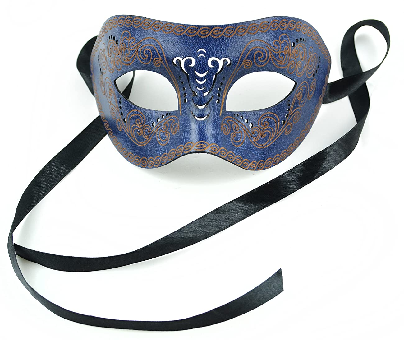 Mask-It Leather Half Mask, 8-Inch, Navy 0
