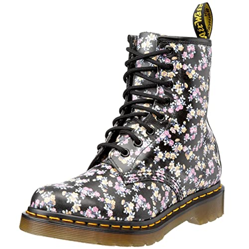 Dr. Martens Women's 1460 Re-Invented Victorian Print Lace Up Boot,Black Mini Tydee,7 UK (9 M US Womens)