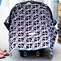 Carseat Canopy with Additional Strap Attachments