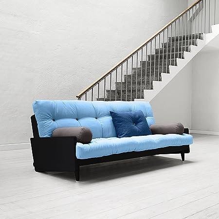 Karup-Indie, canapé lit: futon, cadre en bois naturel
