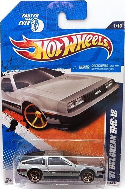 Hot Wheels 2011, '81 Delorean DMC-12, #141/244. Faster than ever. 1:64