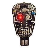 Lumen Electronic Jewelry Intermediate Soldering kit, Solar powered LED Skull (Color: Black)