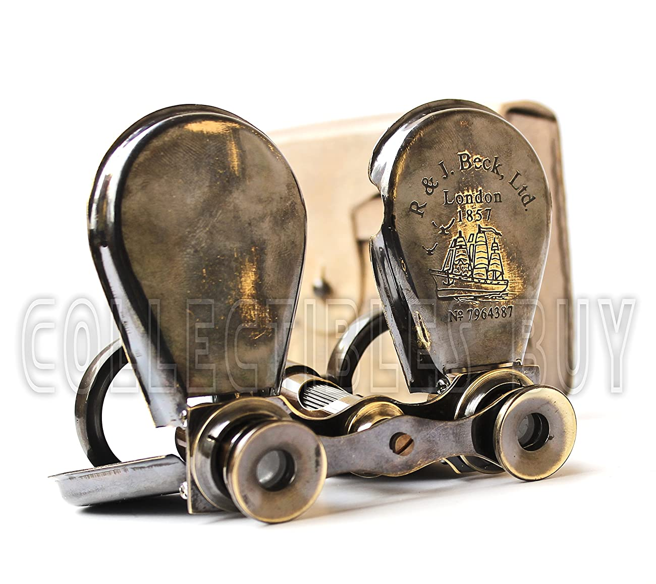 Classic Marine Spy Glass Antique London 1857 R & J Beck Brass Binocular Collectibles Gift 1