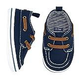 Carter's Boys' Boat Shoe, Navy, 3-6 Months, Size 2 Regular US Infant (Color: Navy, Tamaño: 2 M US Infant)