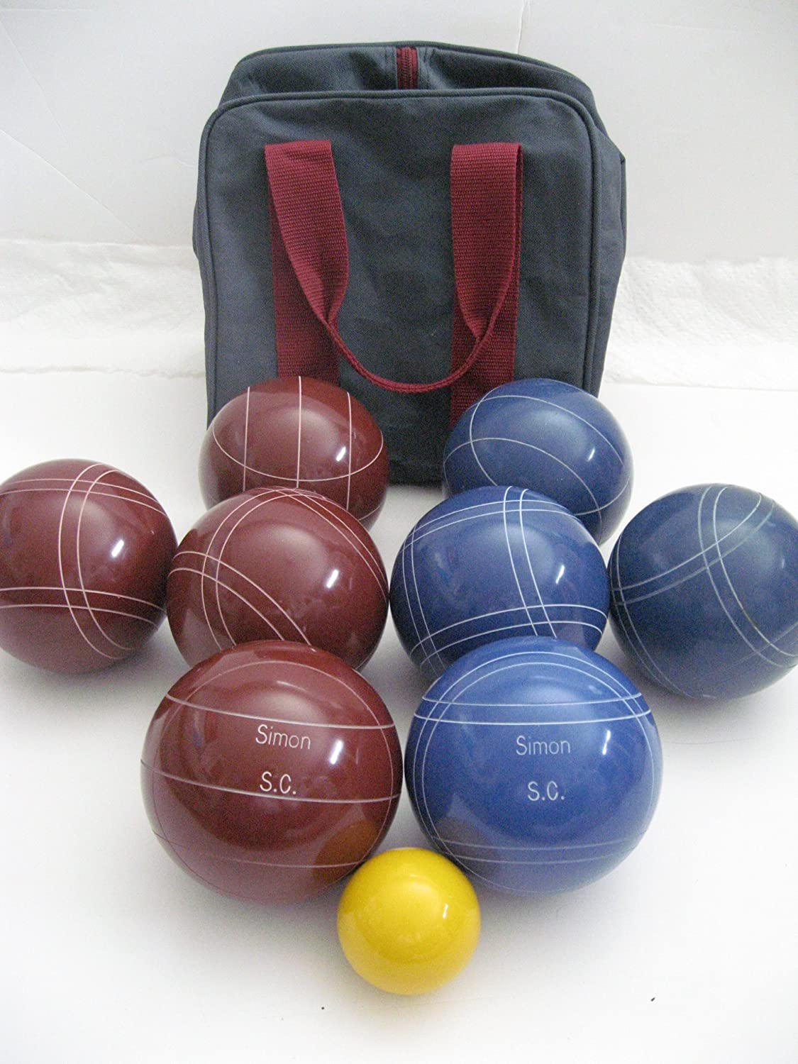 Premium Quality Engraved EPCO Bocce package – 107mm EPCO Red and Blue balls w… günstig online kaufen