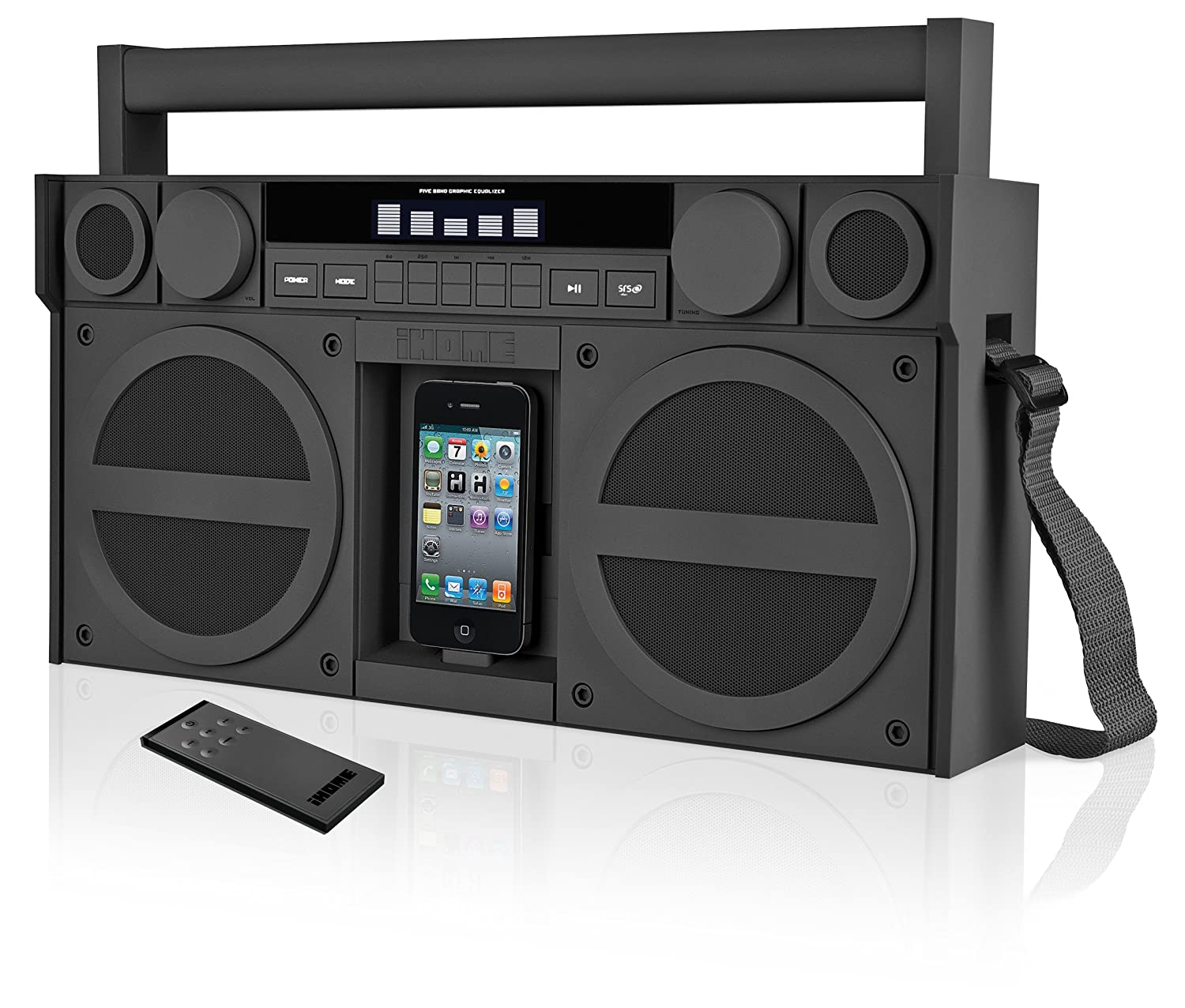 iHome IP4GZC FM 30-Pin iPod/iPhone Speaker Dock Boombox (Gunmetal)