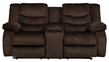 Garek Cocoa Double Reclining Power Loveseat With Console