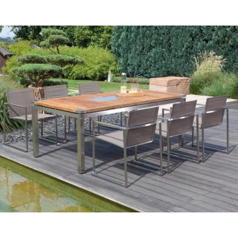 Sonnenpartner Gartentisch/Tisch System Base/Style Edelstahl/Old-Teak 160 x 90 cm günstig bestellen