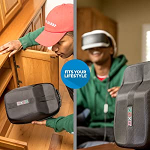 Sony PlayStation VR Headset and Accessories Carrying Case - Protective Deluxe Travel Case - Black Ballistic Exterior - Official Sony Licensed Product
