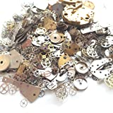 Yiyatoo Lot Vintage Steampunk Wrist Watch Old Parts Gears Wheels Steam Punk for Crafting (Watch Parts) (Color: Polychromatic)