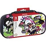 NINTENDO SWITCH DELUXE SPLATOON 2 TRAVEL CASE, PREMIUM HARD CASE MADE WITH PU LEATHER, ORIGINAL SPLATOON ART. SECURE FIT FOR SWITCH, DESIGNED TO PROTECT SWITCH'S ANALOG STICKS, PLUS 2 MULTI-GAME CASES (Color: Splatoon)