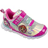 L.O.L Surprise! Girls Sneakers, Light Up Athletic Sneaker, MC Swag and Rocker, Pink, Girls Size 13 (Color: Pink Light Up, Tamaño: 13 M US Little Kid)