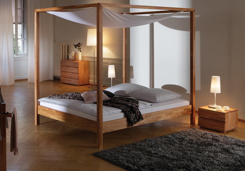 Stilbetten Bett Holzbetten Himmelbett Justine Buche Schoko 180×200 cm günstig online kaufen