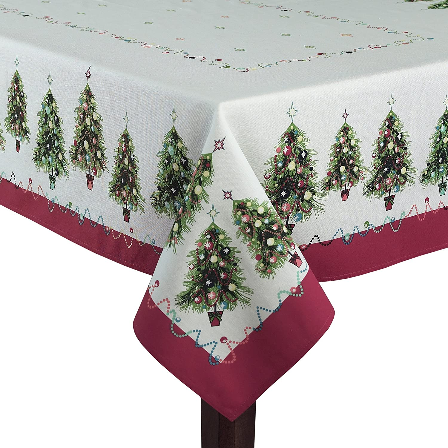 Christmas Tree Fabric Tablecloths