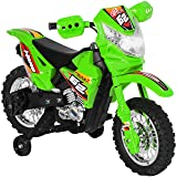 Best Choice Products 6V Electric Kids Ride On Motorcycle Dirt Bike W/ Training Wheels- Green (Color: Green)
