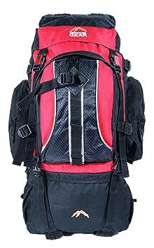 Read Review   Outdoor Gear 8890 Sac à dos de camping randonnée noir Rouge  70 l 0047be99f56