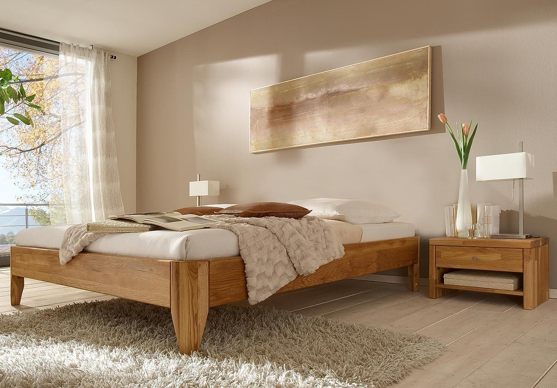 Stilbetten Bett Holzbetten Massivholzbett / Liege Salino Eiche (geölt) 140×200 cm günstig bestellen