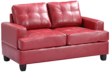 Glory Furniture G589A-L Living Room Love Seat, Red
