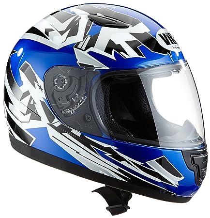 Protectwear SA03-BL-XS Casque de Moto pour Enfant, Bleu, Taille XS