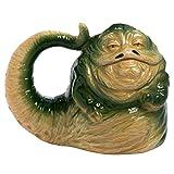 Vandor 55695 Star Wars Jabba the Hutt Shaped Ceramic Soup Coffee Mug Cup, 26 Ounce (Color: Green, Tamaño: 20oz)