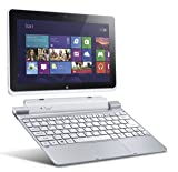 Acer Iconia W510-1837 10.1-inch 64GB Tablet with Keyboard Dock (Silver)