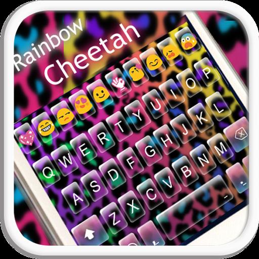 Rainbow Cheetah Emoji Keyboard Theme (Keyboard Apps compare prices)