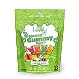 GELATIN-FREE Honey Gummy Bears - Lovely Co. 6oz Bag - Cherry, Lemon, Orange & Apple Flavors | | NO HFCS, Gluten-Free, Peanut-Free & All Real Ingredients!