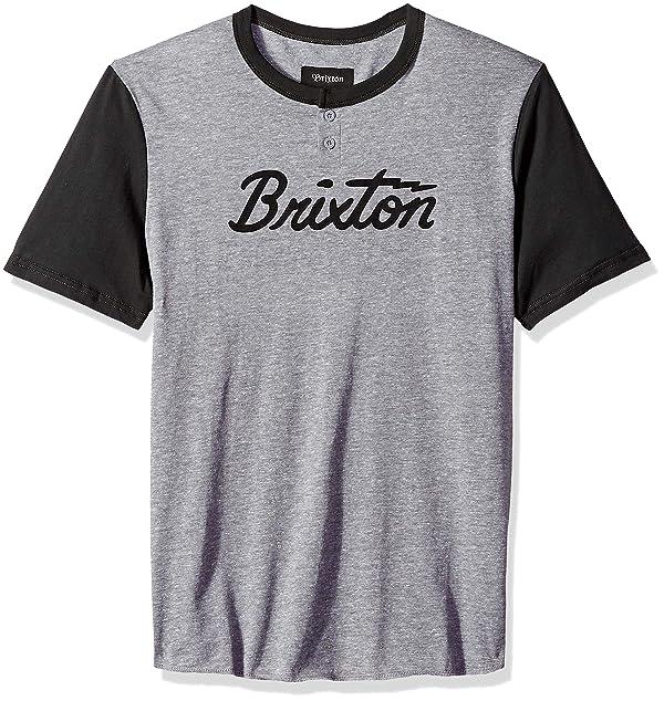 BRIXTON Mens Jolt Iv Short Sleeve Standard Fit Henley Knit Tee