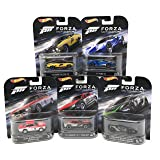 Hot Wheels FORZA Motorsport Set of 5 Cars, 73 Ford Falcon XB, 17 FORD GT, Alfa Romeo Giulia Sprint GTA, 12 Camaro ZL1 Concept, and Lamborghini Gallardo LP 570-4 Superleggera Bundle