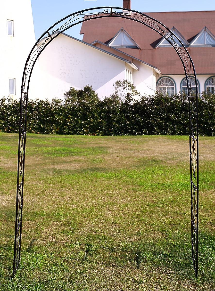 """1.Go Steel Garden Arch, 72"""" High x 45"""" Wide, Garden Arbor for Various Climbing Plant, Outdoor Garden Lawn Backyard"""