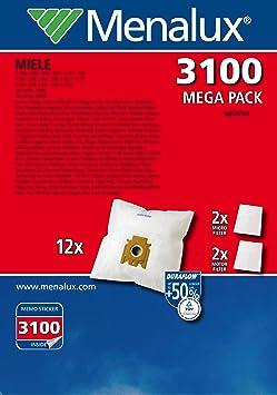 DCT 39 10x Aspirateur Sacs Papier pour Menalux 2000