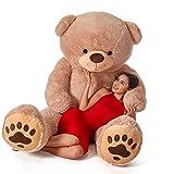 Giant Teddy Teddy & Hugs Brand Bear (7 Foot) (Color: Brown, Tamaño: 7 Foot)