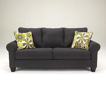 Nolana Contemporary Grey Fabric Sofa